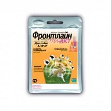 MERIAL ФРОНТЛАЙН ТРИ-АКТ S против клещей и блох для собак 5-10 кг пипетка 1 мл
