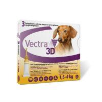 ВЕКТРА 3D инсектоакарицидные капли для собак весом 1.5-4кг