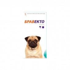 INTERVET БРАВЕКТО жевательная таблетка для собак 4.5-10 кг