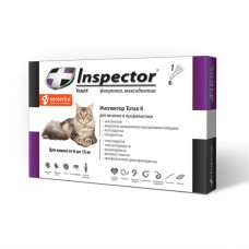 INSPECTOR от блох, клещей, глистов для кошек от 8 до 15кг