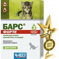 БАРС ФОРТЕ капли для котят против блох и клещей