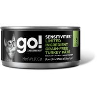 GO! LIMITED INGREDIENT GF TURKEY PATE с индейкой беззерновые консервы для кошек с чувствительным пищеварением 100г