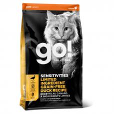 GO! SOLUTIONS SENSITIVITIES гипоаллергенный беззерновой с уткой для котят и кошек