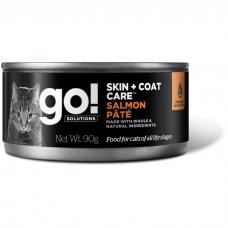 GO! SKIN+COAT CARE SALMON PATE CF с лососем консервы для кошек всех возрастов 90г