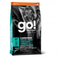 GO! SOLUTIONS CARNIVORE беззерновой с курицей, индейкой и уткой для взрослых собак