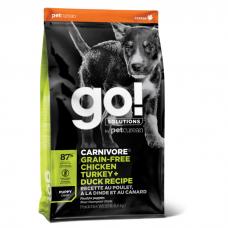 GO! CARNIVORE GF 4 ВИДА МЯСА беззерновой c индейкой, курицей, лососем и уткой для щенков всех пород