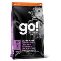 GO! CARNIVORE GF 4 ВИДА МЯСА  беззерновой с индейкой, курицей, лососем и уткой для пожилых собак всех пород