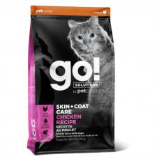 GO! SOLUTIONS SKIN+COAT CARE с цельной курицей и рисом для котят и кошек