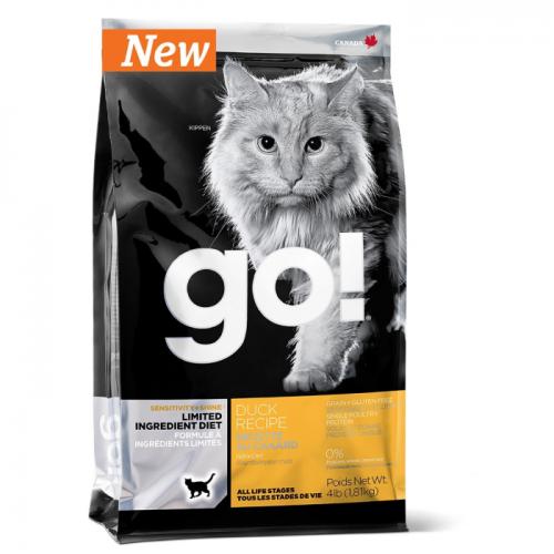 GO! NATURAL HOLISTIC беззерновой с цельной уткой для котят и кошек с чувствительным пищеварением