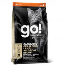 GO! CARNIVORE GF LAMB+WILD BOAR беззерновой с ягненком и мясом дикого кабана для котят и кошек