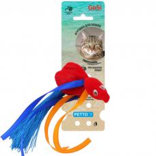 GOSI 07303 ЗОЛОТАЯ РЫБКА КРАСНАЯ С ПИЩАЛКОЙ игрушка для кошек
