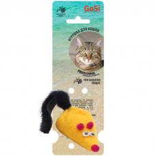 GOSI 07297 МЫШКА ЖЕЛТАЯ С ПИЩАЛКОЙ игрушка для кошек