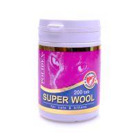 POLIDEX SUPER WOOL PLUS для улучшения состояния шерсти витамины для кошек 200таб