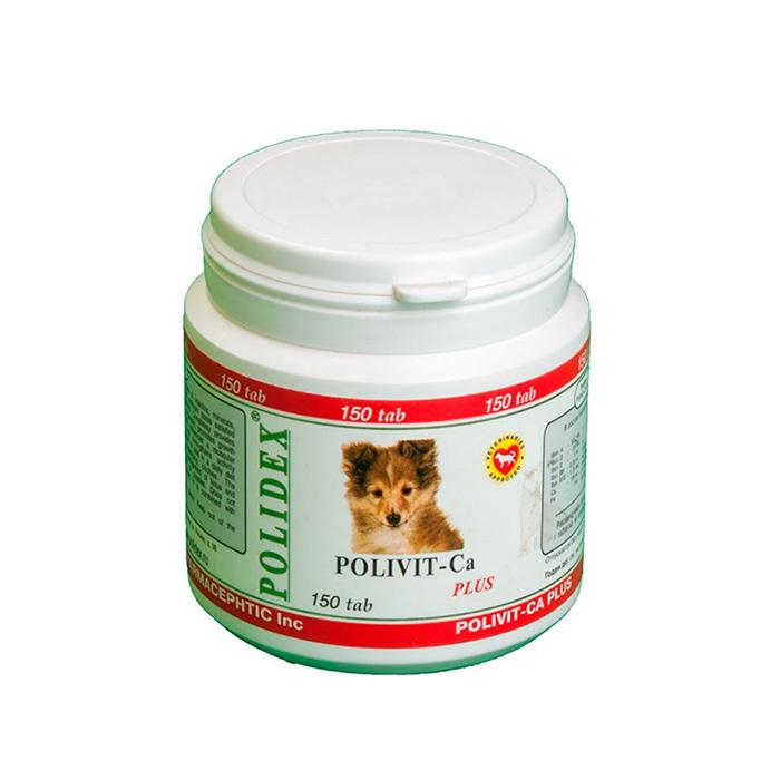 Фото - POLIDEX POLIVIT-CA PLUS с кальцием для щенков всех пород, беременных и кормящих собак