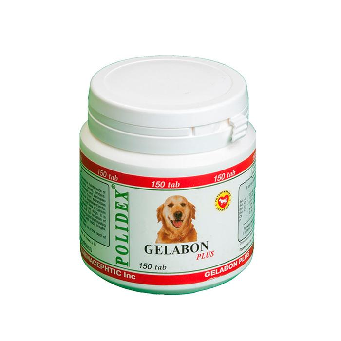 POLIDEX GELABON PLUS при заболеваниях опорно-двигательного аппарата витамины для малых и средних пород