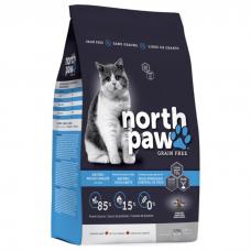 NORTH PAW КОНТРОЛЬ ВЕСА беззерновой с курицей и рыбой для пожилых и малоподвижных кошек