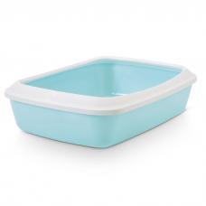 SAVIC Iriz 42 Туалет для кошек с насадкой  42х31х12.5см голубой