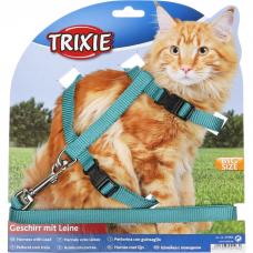 TRIXIE 41960 шлейка с поводком для крупных кошек 34-57см, 13мм