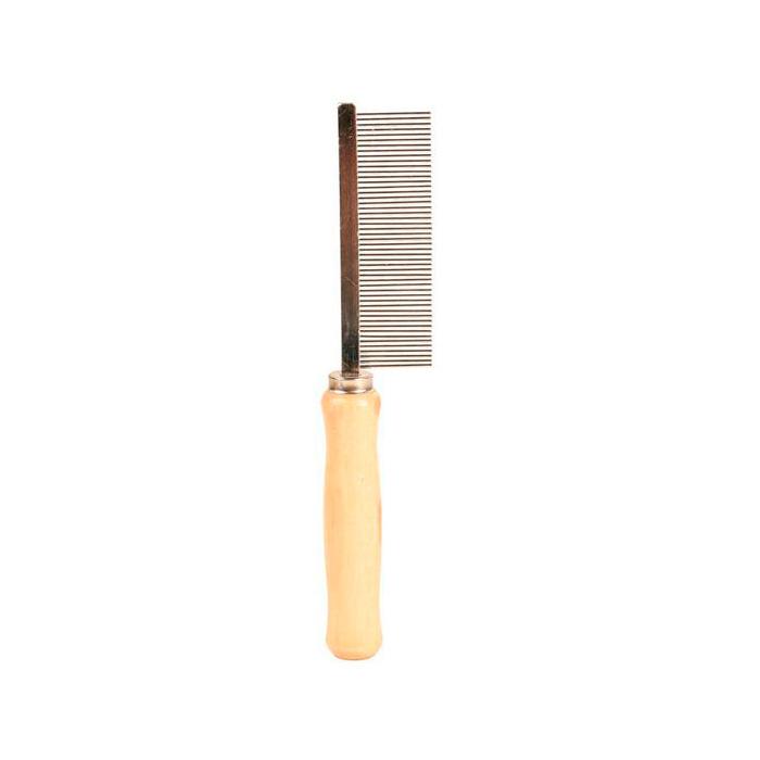 Фото - TRIXIE 2390 Расческа с деревянной ручкой с частым зубом