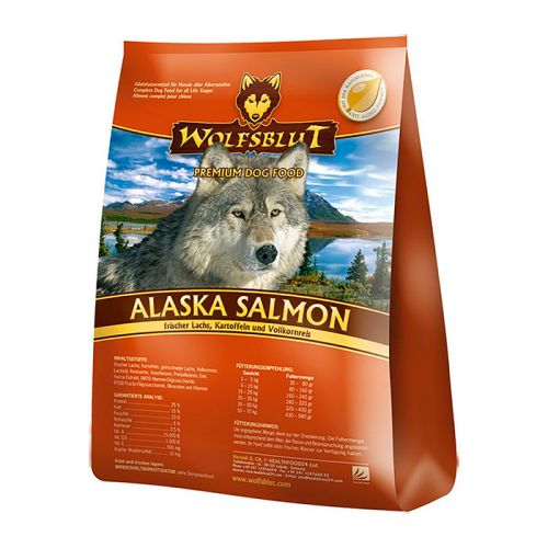 WOLFSBLUT ALASKA SALMON с лососем и картофелем для взрослых собак
