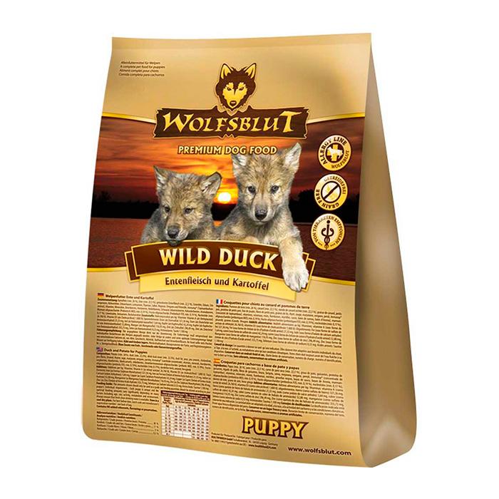 WOLFSBLUT WILD DUCK Puppy с картофелем и уткой для щенков