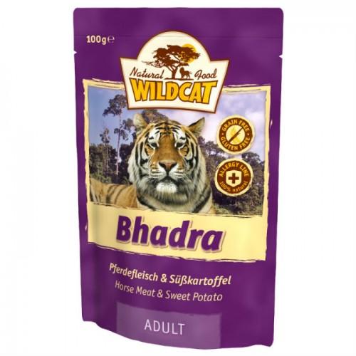 WILDCAT BHADRA с кониной и бататом пауч для кошек 100 г