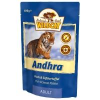 WILDCAT ANDHRA с форелью лососем и сигом пауч для кошек 100 г