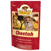 WILDCAT CHEETAH с индейкой олениной бараниной и лососем пауч для кошек 100 г