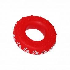 ZIVER ПОКРЫШКА виниловая игрушка для собак, цвет красный6 см