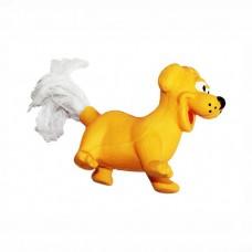 ZIVER СОБАКА С ВЕРЕВОЧНЫМ ХВОСТОМ игрушка для собак 8 см