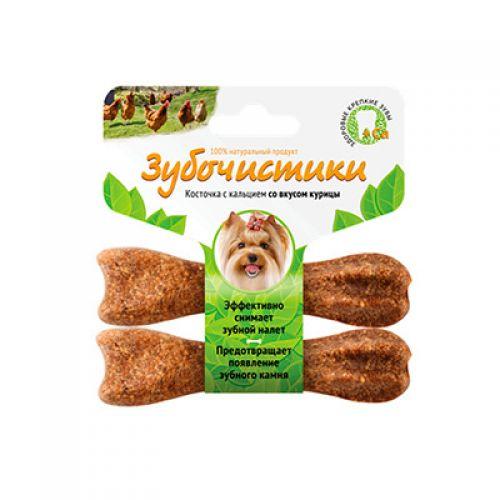 ЗУБОЧИСТИКИ с курицей лакомство для собак малых пород 2*18г