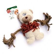 GIGWI МЕДВЕДЬ игрушка для собак с пищалкой 18 см