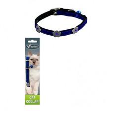 PAPILLON Светоотражающий ошейник для кошек 10мм х 28см цвет синий