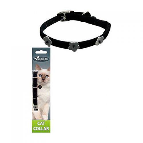 PAPILLON Светоотражающий ошейник для кошек 10мм х 28см цвет черный