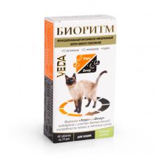 VEDA БИОРИТМ со вкусом кролика витаминный комплекс для кошек 48таблеток