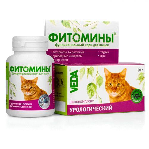 VEDA ФИТОМИНЫ с урологическим фитокомплексом для кошек витамины