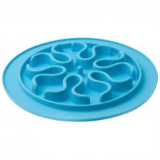 V.I.PET ВОЛНЫ миска силиконовая для медленного поедания 24см голубая