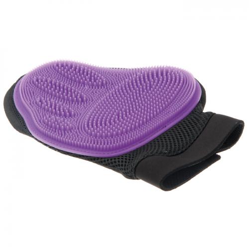 V.I.PET 3009 Рукавица силиконовая на руку большая фиолетовая